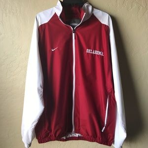 NIKE OU SOONERS Windbreaker Zip up jacket LARGE